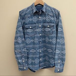 NWT Lucky Brand Denim Button Up Shirt Size S